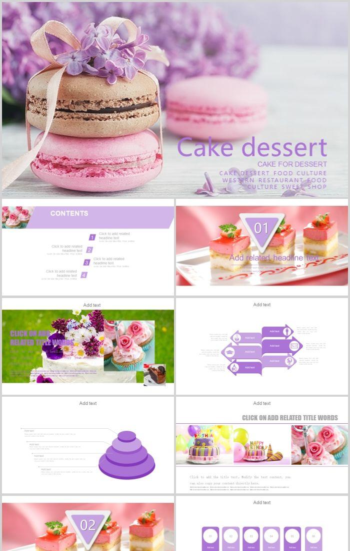Cream Cake Shop Dessert Cake Ppt Template Powerpoint Templates Professional Ppt Excel Office Documents Template Download Site