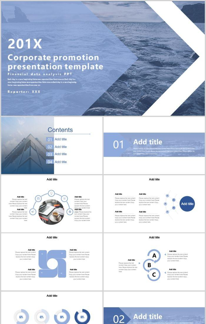 Corporate Promotion Business Ppt Template Powerpoint Templates Professional Ppt Excel Office Documents Template Download Site