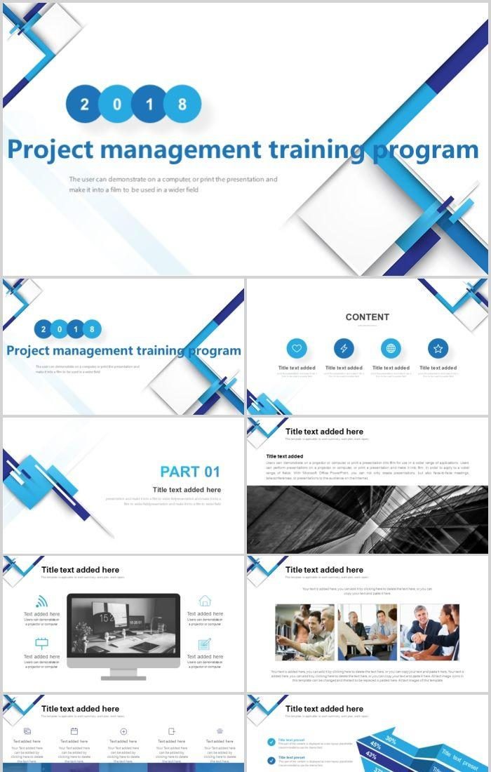 blue minimalist business project management training plan