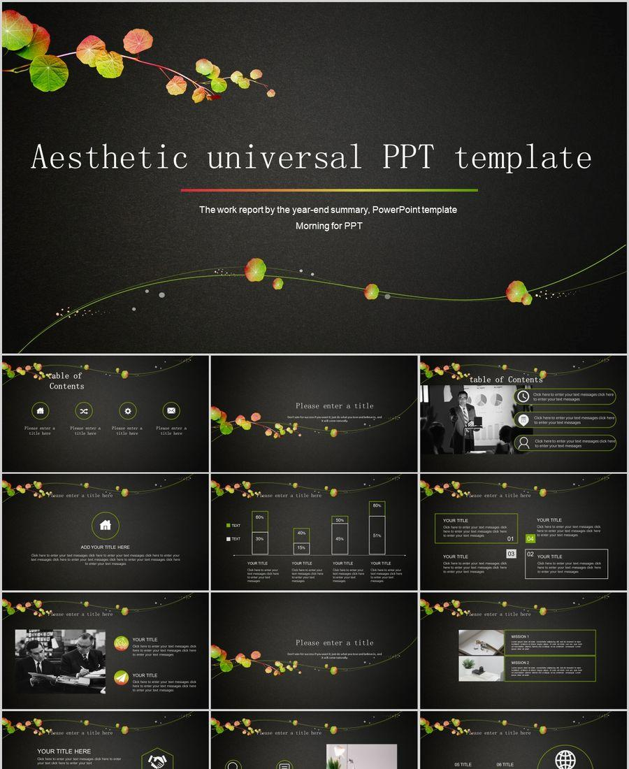 Aesthetic Business Work Common Ppt Template Powerpoint Templates Professional Ppt Excel Office Documents Template Download Site